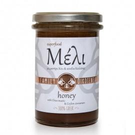 Μέλι Ιονίων νήσων με μαστίχα Χίου και κανέλα Κεΰλάνης «Οικογένεια Αλαμπασύνη» 420γρ