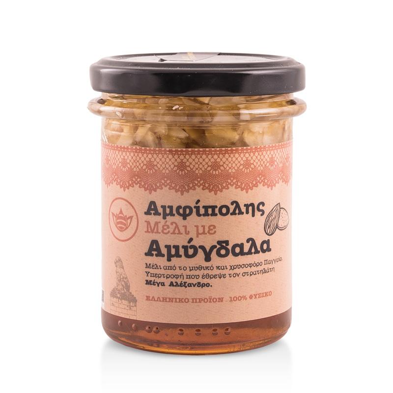 Μέλι με Αμύγδαλα «Μελισσοκομία Αμφίπολης» 250γρ