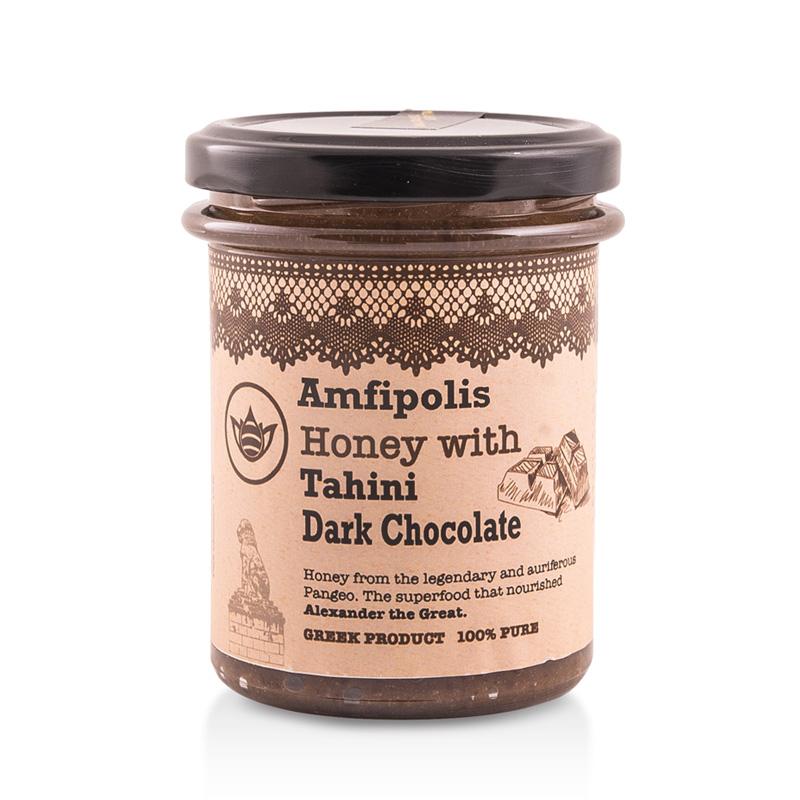 Μέλι με Ταχίνι και Σοκολάτα «Μελισσοκομία Αμφίπολης» 250γρ