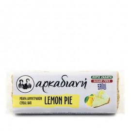 Μπάρα δημητριακών Lemon Pie, χωρίς ζάχαρη 100% φυσική - «Αρκαδιανή» 70γρ