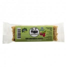Μπάρα δημητριακών με cranberry 100% φυσική - «Αρκαδιανή» 70γρ