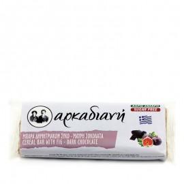 Μπάρα δημητριακών  χωρίς ζάχαρη, με σύκο και μαύρη σοκολάτα 100% φυσική - «Αρκαδιανή» 70γρ
