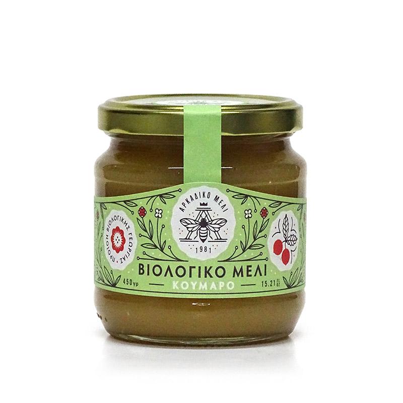 Βιολογικό Μέλι Κούμαρο «Αρκαδικό Μέλι» 450γρ