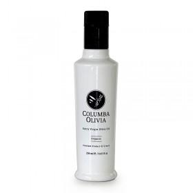Columba Olivia Κορωνέικη. Βιολογικό Εξαιρετικό Παρθένο Ελαιόλαδο (Μεσσηνία - Χανιά) 250ml |Γυάλινο μπουκάλι