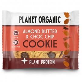 Βιολογικό Μπισκότο με Αμυγδαλοβούτυρο, κομμάτια Σοκολάτας & φυτική πρωτεΐνη, χωρίς λευκή ζάχαρη, χωρίς γλουτένη «Planet Organic» 50γρ VEGAN
