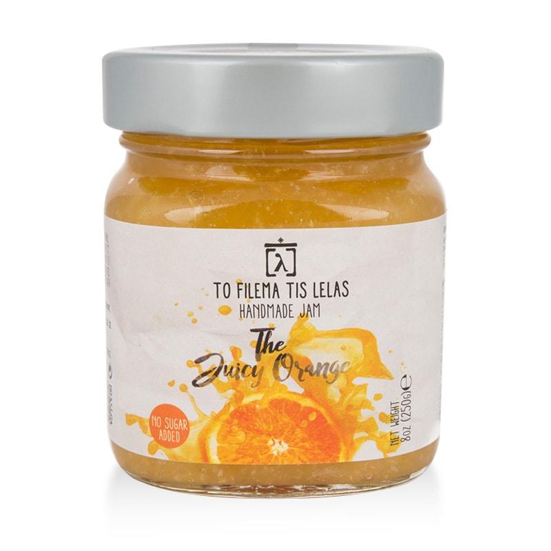 Μαρμελάδα Πορτοκάλι χωρίς Ζάχαρη, χωρίς Γλουτένη «Το Φίλεμα της Λέλας» 250γρ