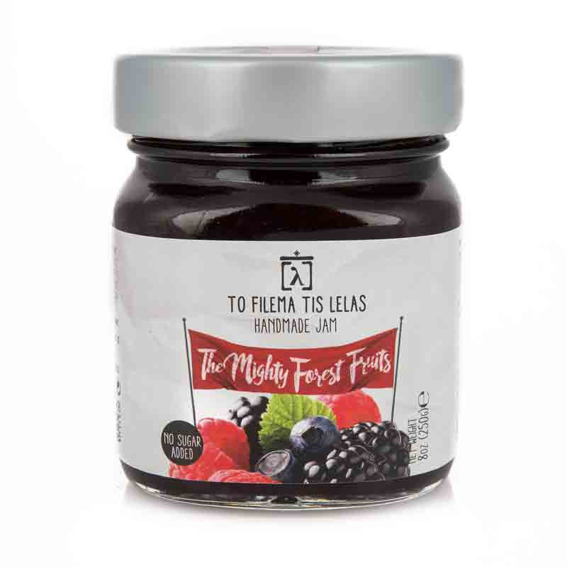 Μαρμελάδα Φρούτα του Δάσους χωρίς Ζάχαρη, χωρίς Γλουτένη  «Το Φίλεμα της Λέλας» 250γρ