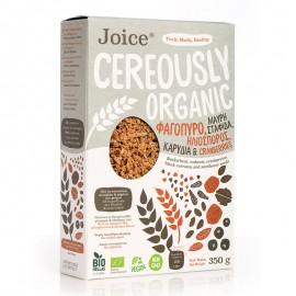 Βιολογικά Δημητριακά με Φαγόπυρο, Σταφίδα Κορίνθου, Ηλιόσπορο, Καρύδια & Cranberries «Joice Foods» 350γρ