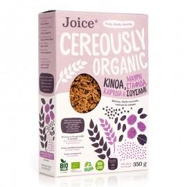 Βιολογικά Δημητριακά με Κινόα, Σταφίδα Κορίνθου, Καρύδια & Σουσάμι «Joice Foods» 350γρ