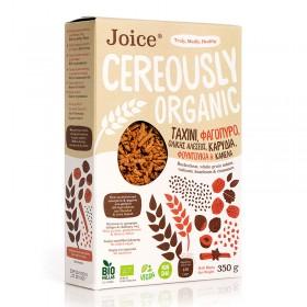 Βιολογικά Δημητριακά με Ταχίνι ολικής άλεσης, Φαγόπυρο, Καρύδια, Φουντούκια και Κανέλα Κευλάνης «Joice Foods» 350γρ