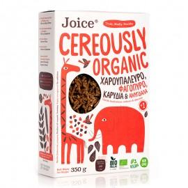 Βιολογικά Δημητριακά με Χαρουπάλευρο, Φαγόπυρο, Καρύδια και Αμύγδαλα, «Joice Foods» 350γρ