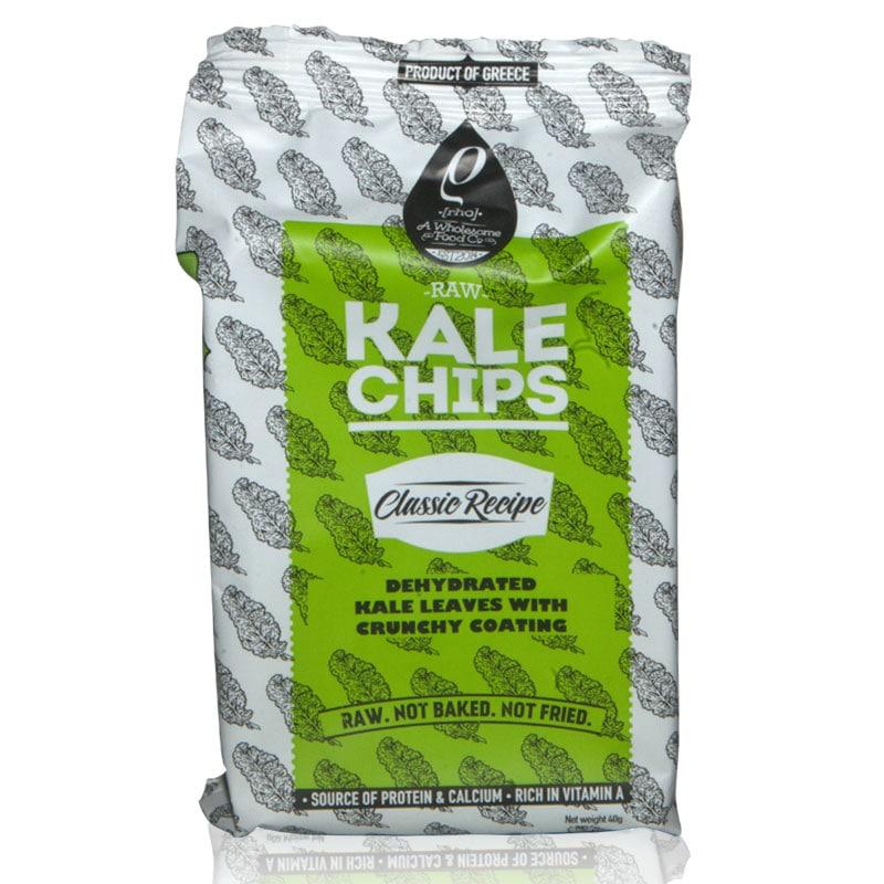 Raw Kale Chips (Αποξηραμένα φύλλα λαχανίδας Kale με τραγανή επικάλυψη) Classic «Rho Foods» 50γρ