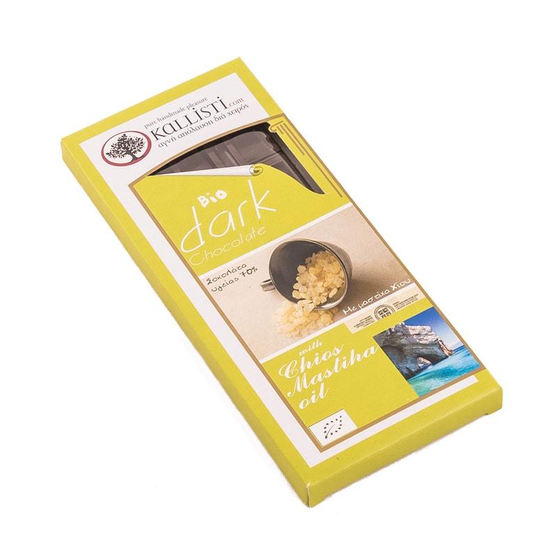 Βιολογική Σοκολάτα Υγείας με Μαστίχα Χίου «KALLISTI» 50γρ
