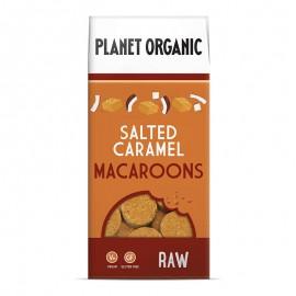 Βιολογικά Macaroons χωρίς γλουτένη με αλμυρή Καραμέλα & Αμύγδαλο «Planet Organic» 90γρ
