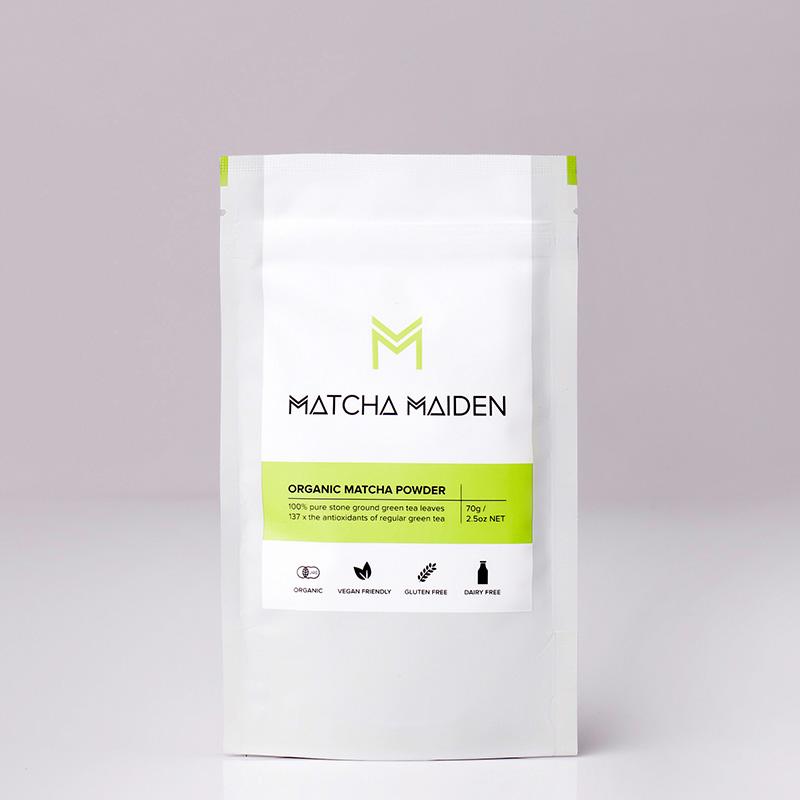 Matcha Maiden - 100% οργανικό, αντιοξειδωτικό, αυθεντικό πράσινο Τσάι Matcha 70γρ