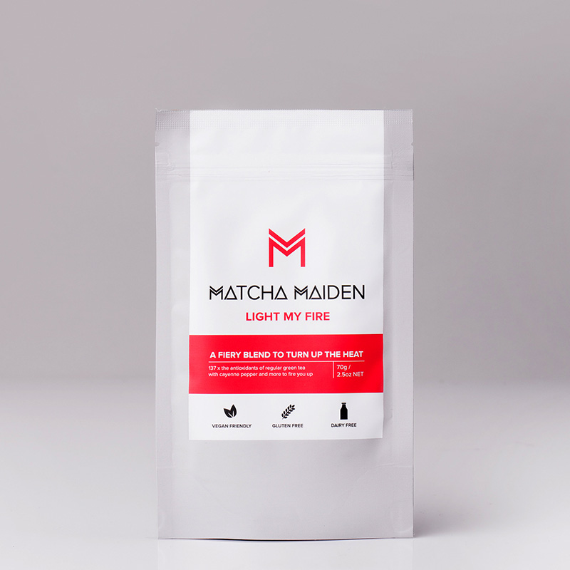 Light my Fire - Matcha Maiden Blend - Αντιοξειδωτικό πράσινο Τσάι Matcha με Κανέλλα, Πιπέρι Cayenne & Τζίνσεγκ 70γρ