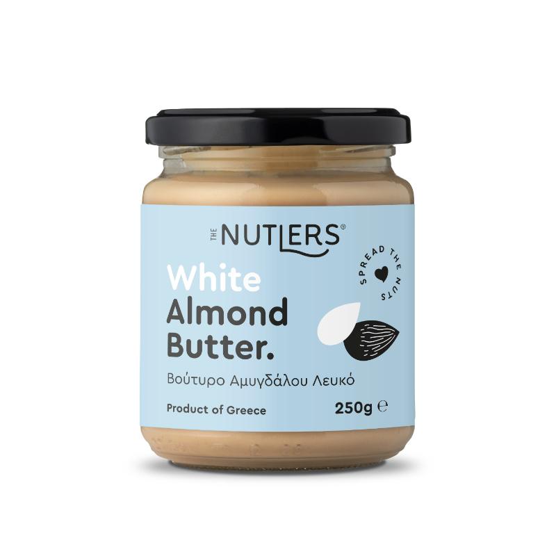 Αμυγδαλοβούτυρο Λευκό χωρίς ζάχαρη, χωρίς γλουτένη «The Nutlers» 250γρ
