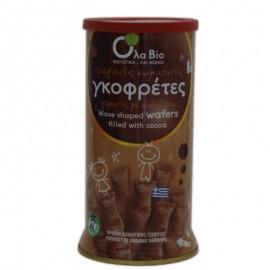 Βιολογικές Γκοφρέτες με Σοκολάτα (Πουράκια), χωρίς Φοινικέλαιο «OLA-BIO» 140γρ