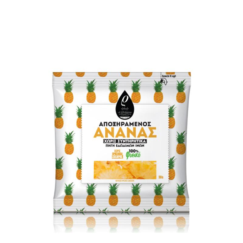 Αποξηραμένος Ανανάς, χωρίς Ζάχαρη «Rho Foods» 40γρ