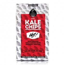 Raw Kale Chips (Αποξηραμένα φύλλα λαχανίδας Kale με τραγανή επικάλυψη) Hot «Rho Foods» 40γρ