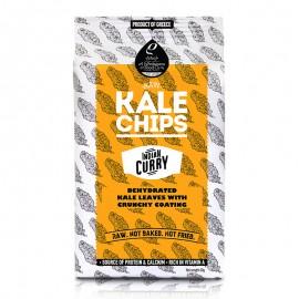 Raw Kale Chips (Αποξηραμένα φύλλα λαχανίδας Kale με τραγανή επικάλυψη) Indian Curry «Rho Foods» 40γρ