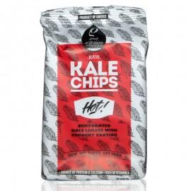 Raw Kale Chips (Αποξηραμένα φύλλα λαχανίδας Kale με τραγανή επικάλυψη) Hot «Rho Foods» 50γρ