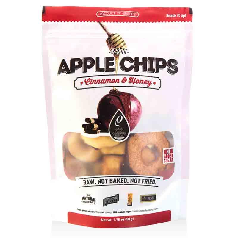 Raw Apple Chips (Αποξηραμένα Μήλα χωρίς Ζάχαρη) «Rho Foods» 50γρ
