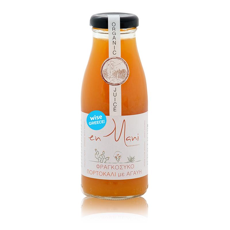 Βιολογικός Χυμός Φραγκόσυκο με Πορτοκάλι και Αγαύη «En Mani for WISE Greece» 250ml