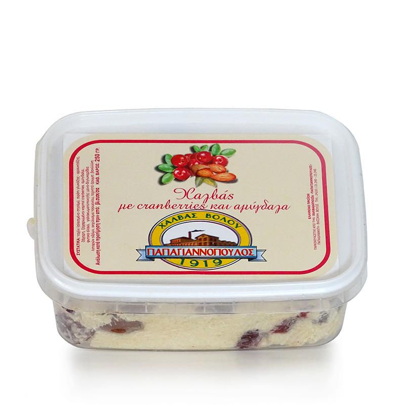 Χαλβάς Βόλου με Cranberries και Αμύγδαλα «Παπαγιαννόπουλος» 250γρ