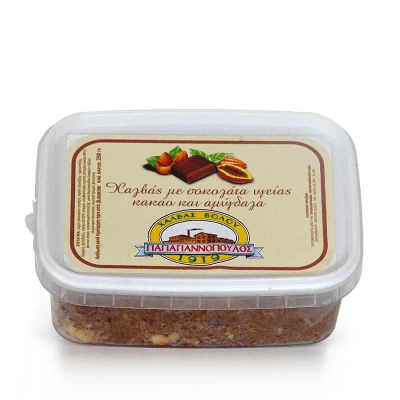 Χαλβάς Βόλου με Αμύγδαλα, Κακάο και Σοκολάτα Υγείας «Παπαγιαννόπουλος» 250γρ